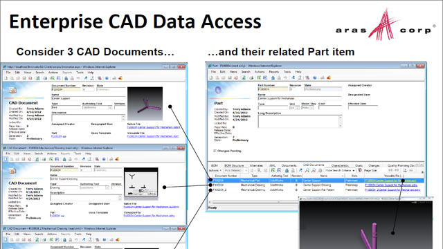Enterprise CAD Data Access Application View
