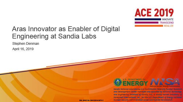 Aras Innnovator as Enabler of Digital Engineering at Sandia Labs