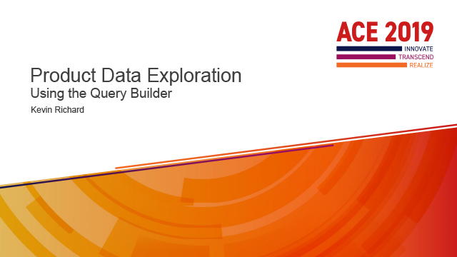 Product Data Exploration - Using the Query Builder
