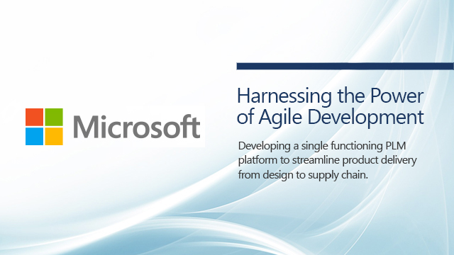 Microsoft Harnessing the power of Agile Development