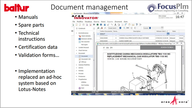 Baltur: Replacing a Legacy PDM System with Aras PLM